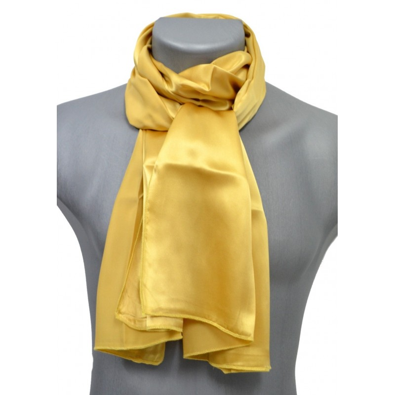 Echarpe en soie or
