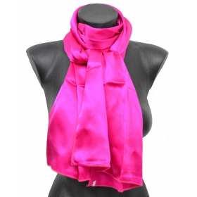 Echarpe en soie rose