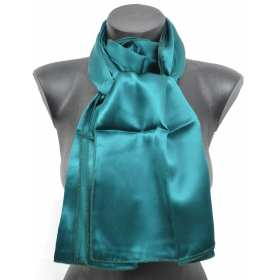 Echarpe en soie verte