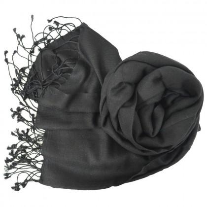 Etole soie et cachemire NZO SBARBERI noire