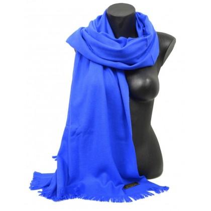 Etole 67cm en 100% cachemire NZO SBARBERI bleu roi
