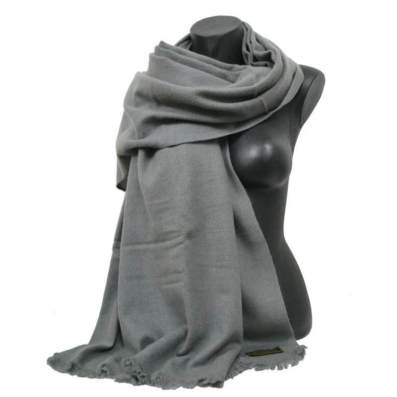 Etole 88cm en 100% cachemire NZO SBARBERI grise