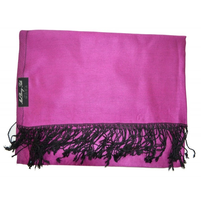 Etole en soie rose et noire