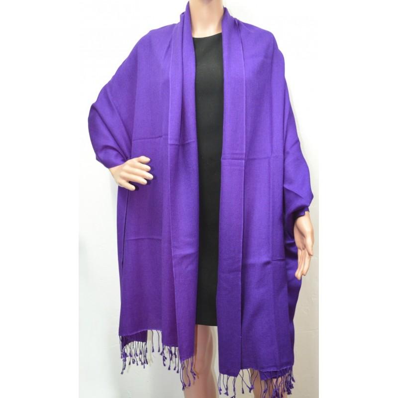 Etole soie et cachemire NZO SBARBERI violette