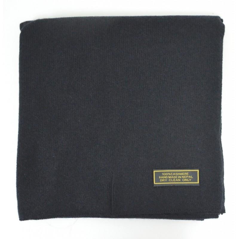 Echarpe en cachemire tricoté noire