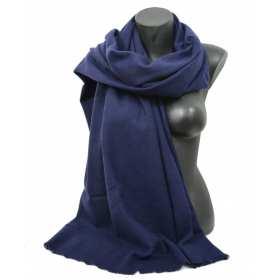 Etole 67cm en 100% cachemire NZO SBARBERI bleu nuit