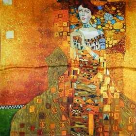 Carré à motif tableau de Klimt
