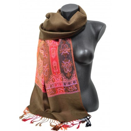 Etole style pashmina indien marron