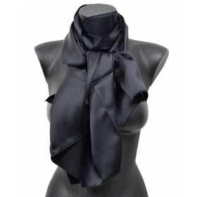 Echarpe en soie noire