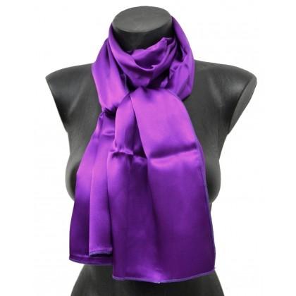Echarpe en soie violette