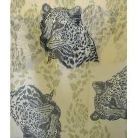 Cheche tête de panthere beige-noir