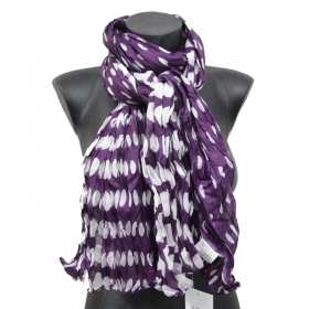 Cheche violet pois blancs