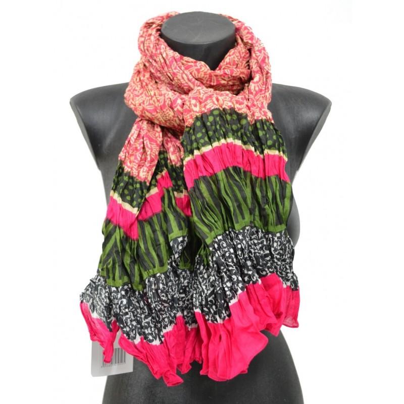 Cheche coton imprimé rose