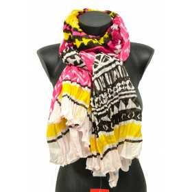 Cheche femme multicolore rose