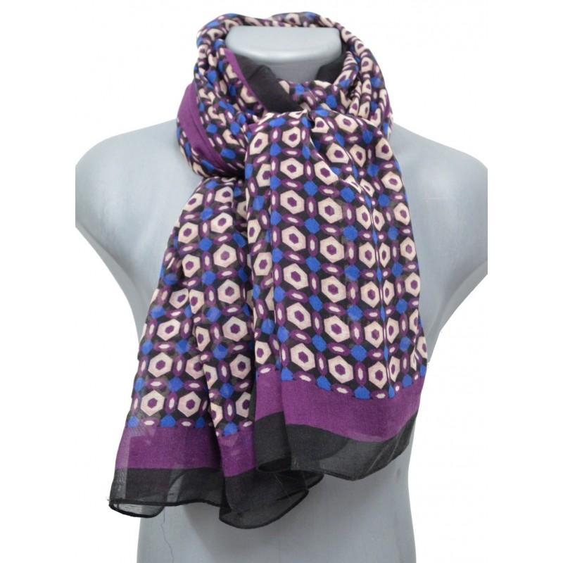 Cheche violet/noir