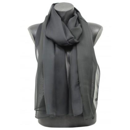 40bd4b6a222f Echarpe mousseline de soie noire