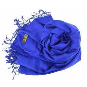 Etole soie et cachemire NZO SBARBERI bleu indigo