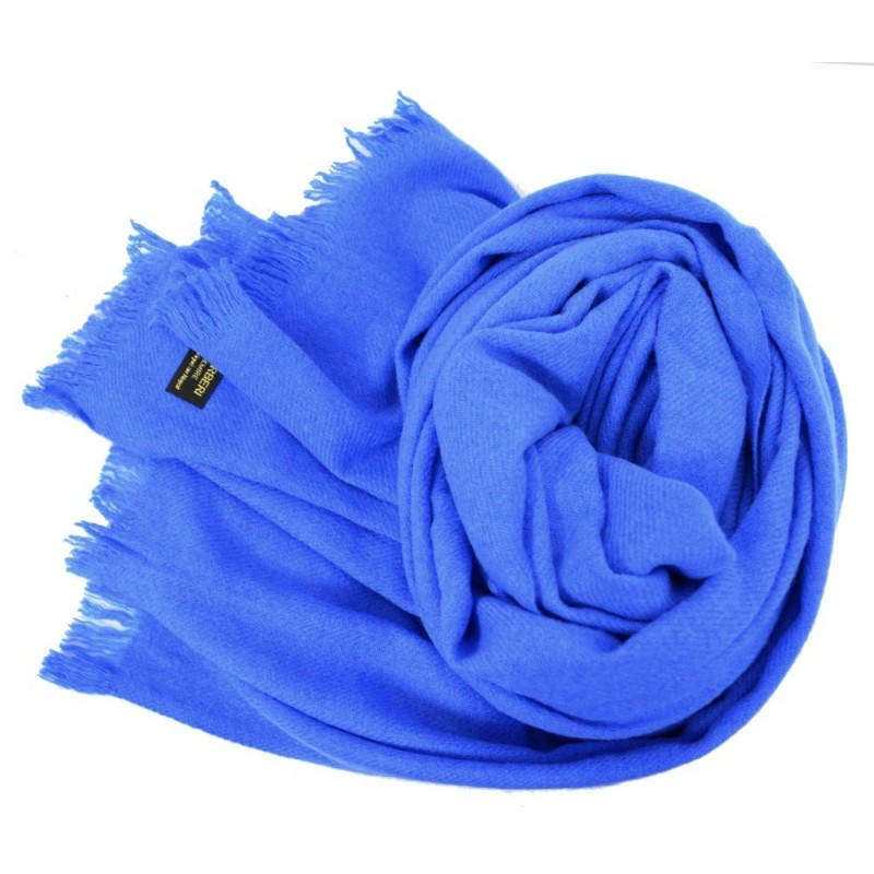 Etole 88cm en 100% cachemire NZO SBARBERI bleue
