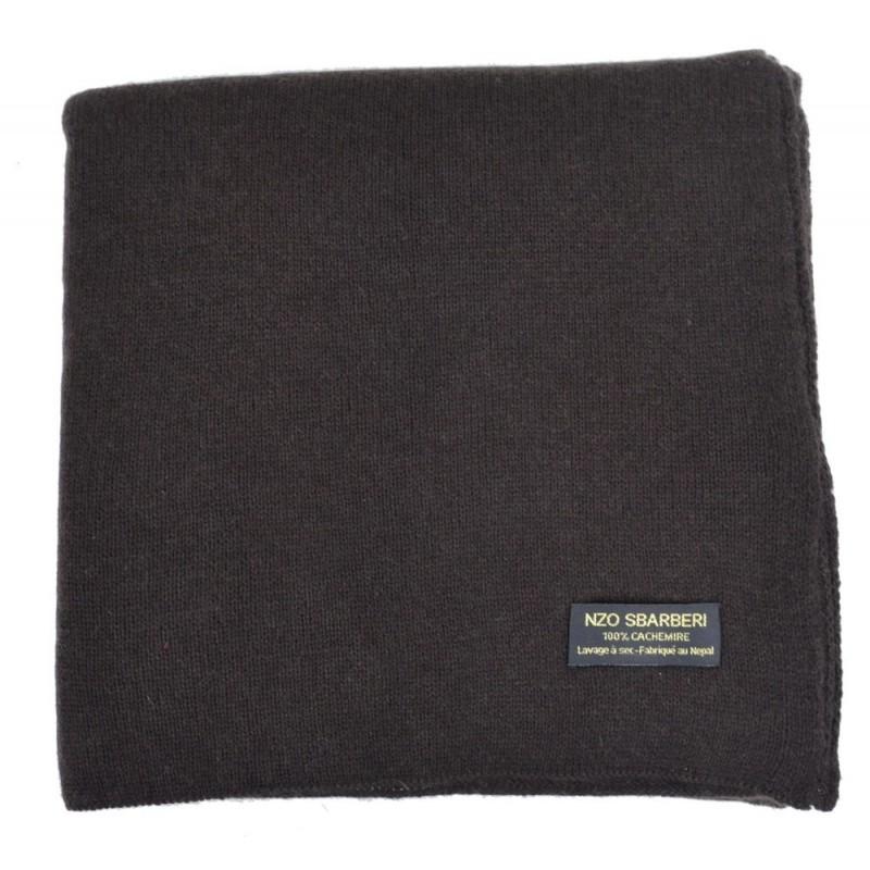 4b81a7854663 Echarpe en cachemire tricoté marron