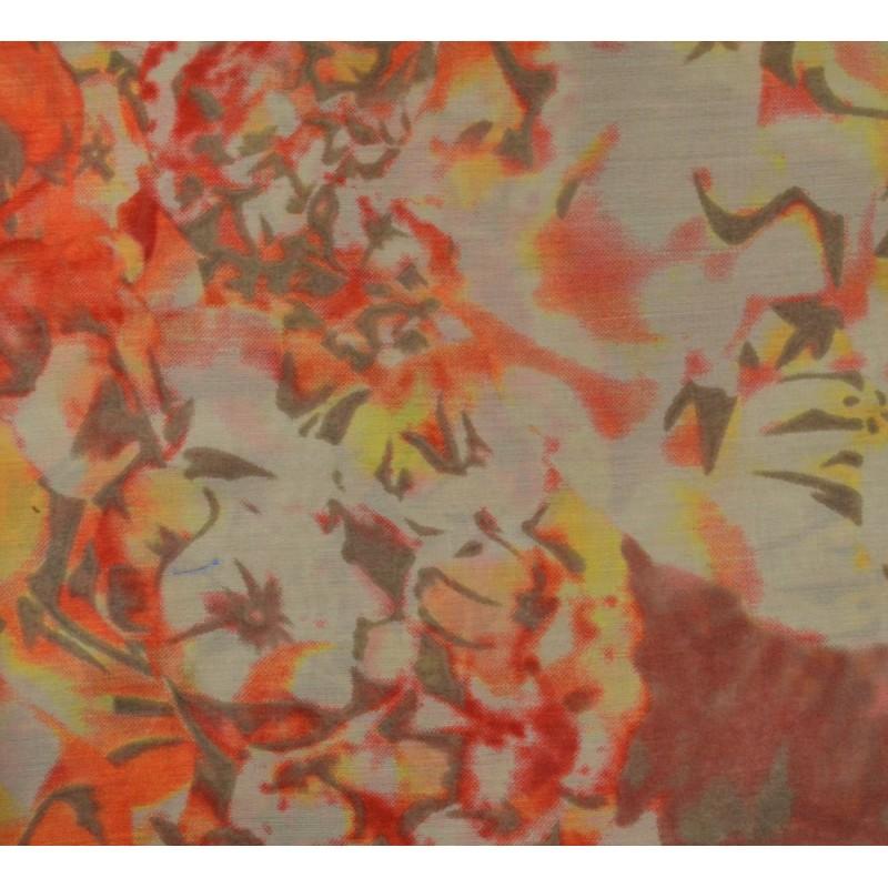 Cheche mixte polyester marron-orange