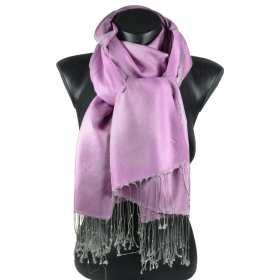 Pashmina en soie et viscose rose