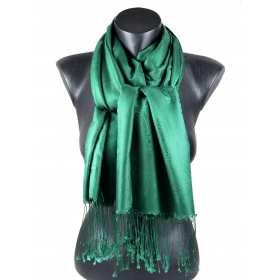Pashmina en soie et viscose vert