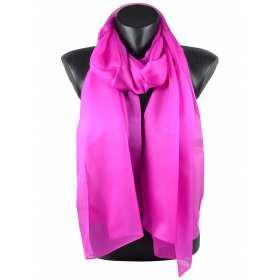 Echarpe mousseline de soie rose magenta