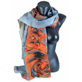 Cheche polyester gris et orange