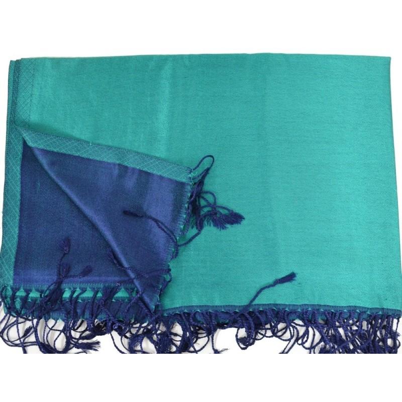 Etole en soie verte et noire