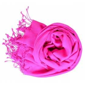 Etole soie et cachemire NZO SBARBERI rose vif