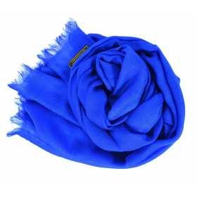 Vrai pashmina bleu roi