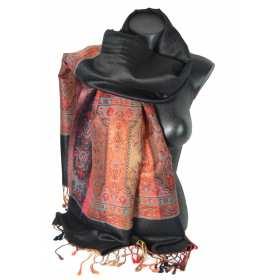 Etole style pashmina indien noir
