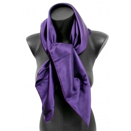 Carré en soie violet de qualité sup.