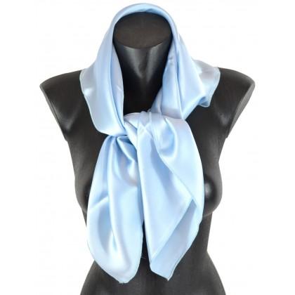 Carré en soie bleu roi de qualité sup. 30f928f7e0b