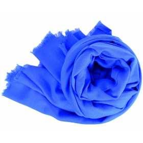 Pashmina en laine bleu roi