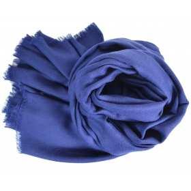 Pashmina en laine bleu marine