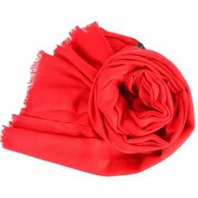 Pashmina en laine rouge