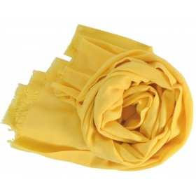 Pashmina en laine jaune