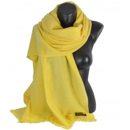 Etole 67cm en 100% cachemire NZO SBARBERI jaune
