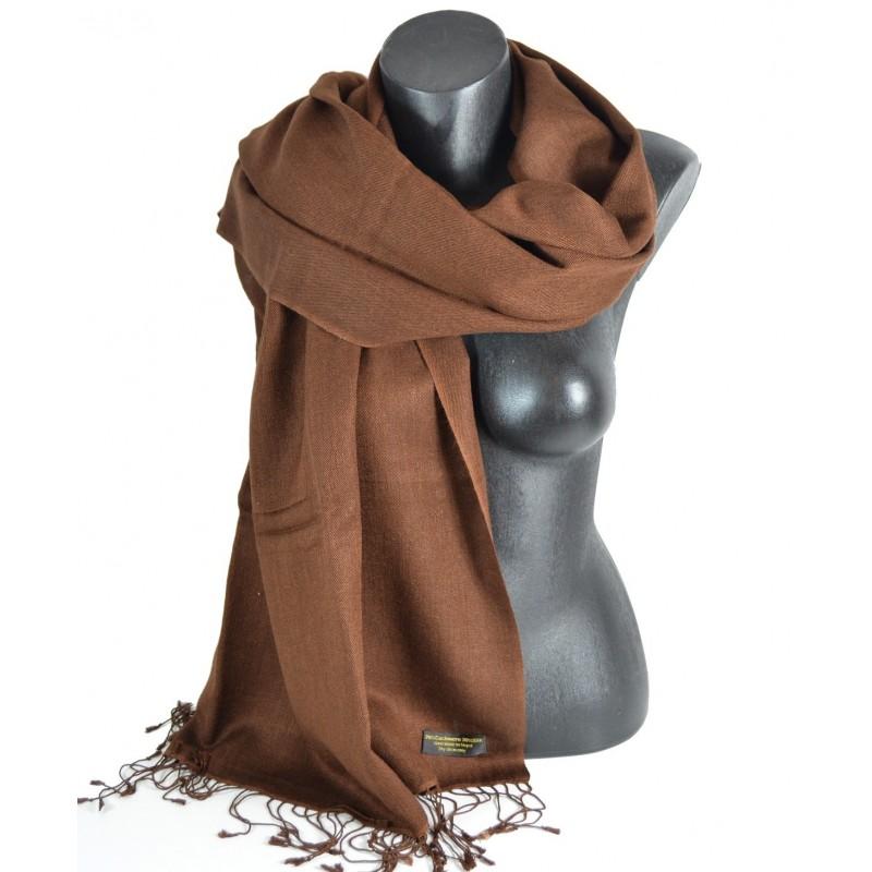 Etole soie et cachemire NZO SBARBERI chocolat