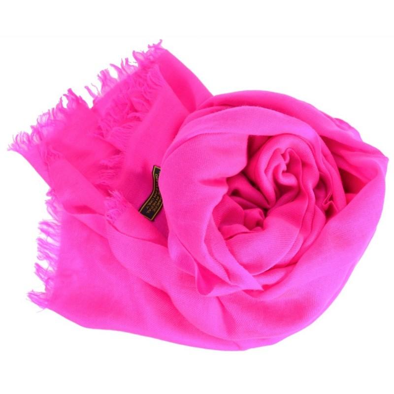 Vrai pashmina rose fuchsia