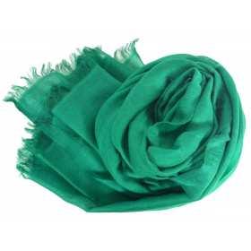 Vrai pashmina vert foncé