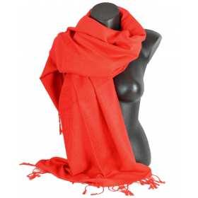 Pashmina laine rouge