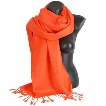 Pashmina laine orange