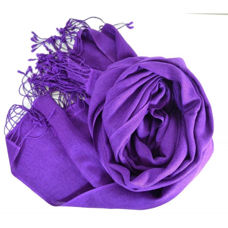 Grande étole 90X200 soie et cachemire lilas