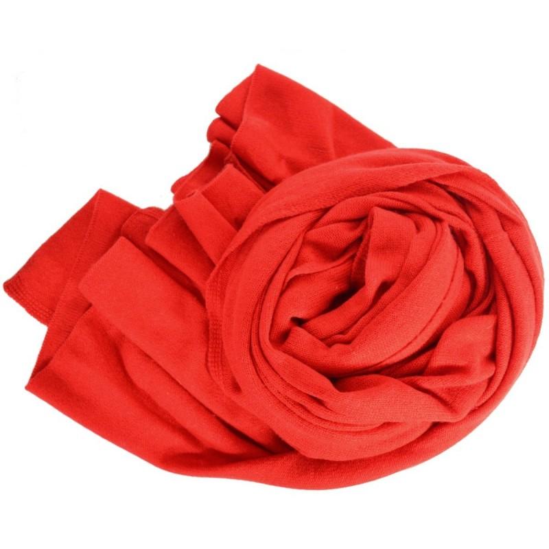 Très grand châle en cachemire rouge