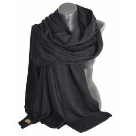Très grand châle en cachemire noir