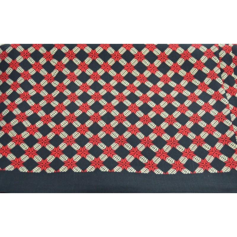 Foulard  en soie homme noir et rouge