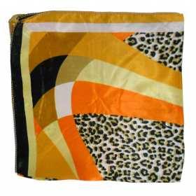 Petit carré orange et panthere
