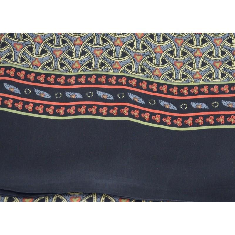 Foulard en soie homme noir motif roues